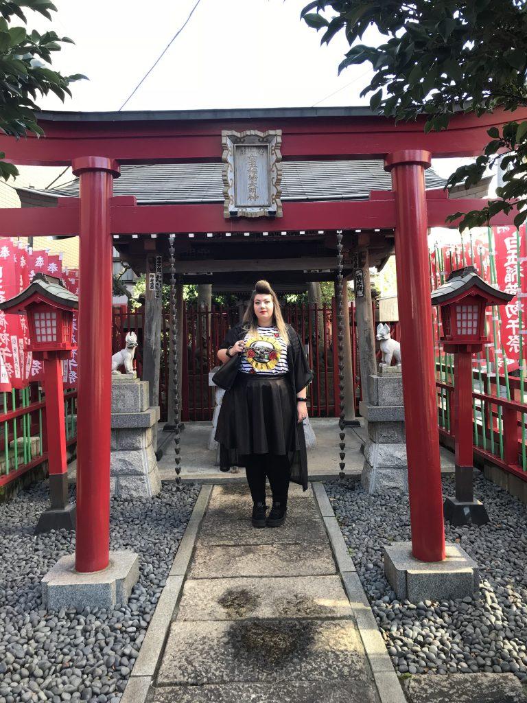 curvy girl travel japan tokyo