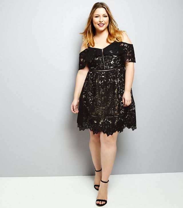 robe dentelle new look curves grande taille