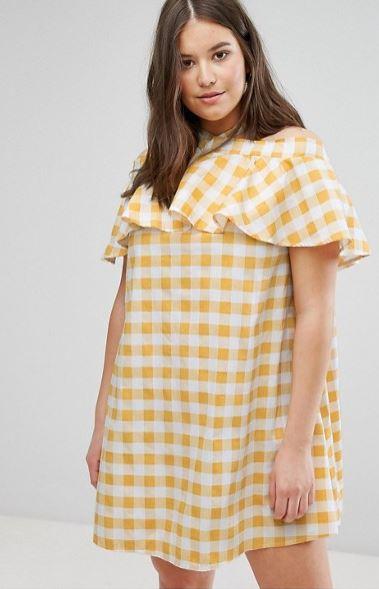 Robe vichy jaune grande taille asos