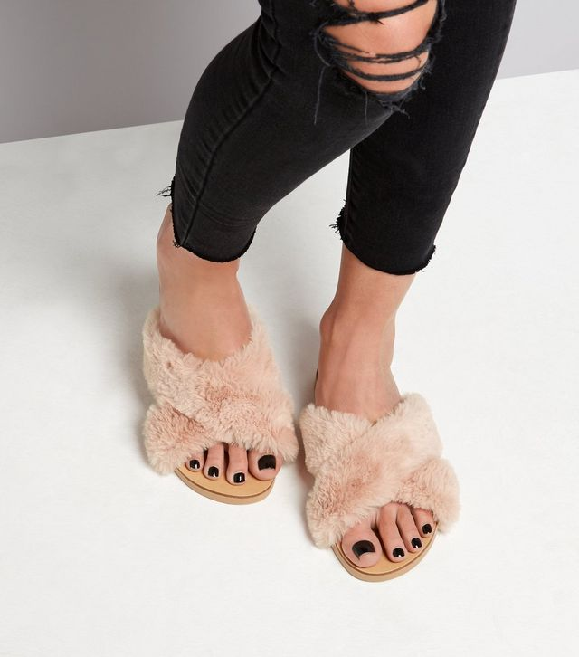 mules poils wide fit newlook