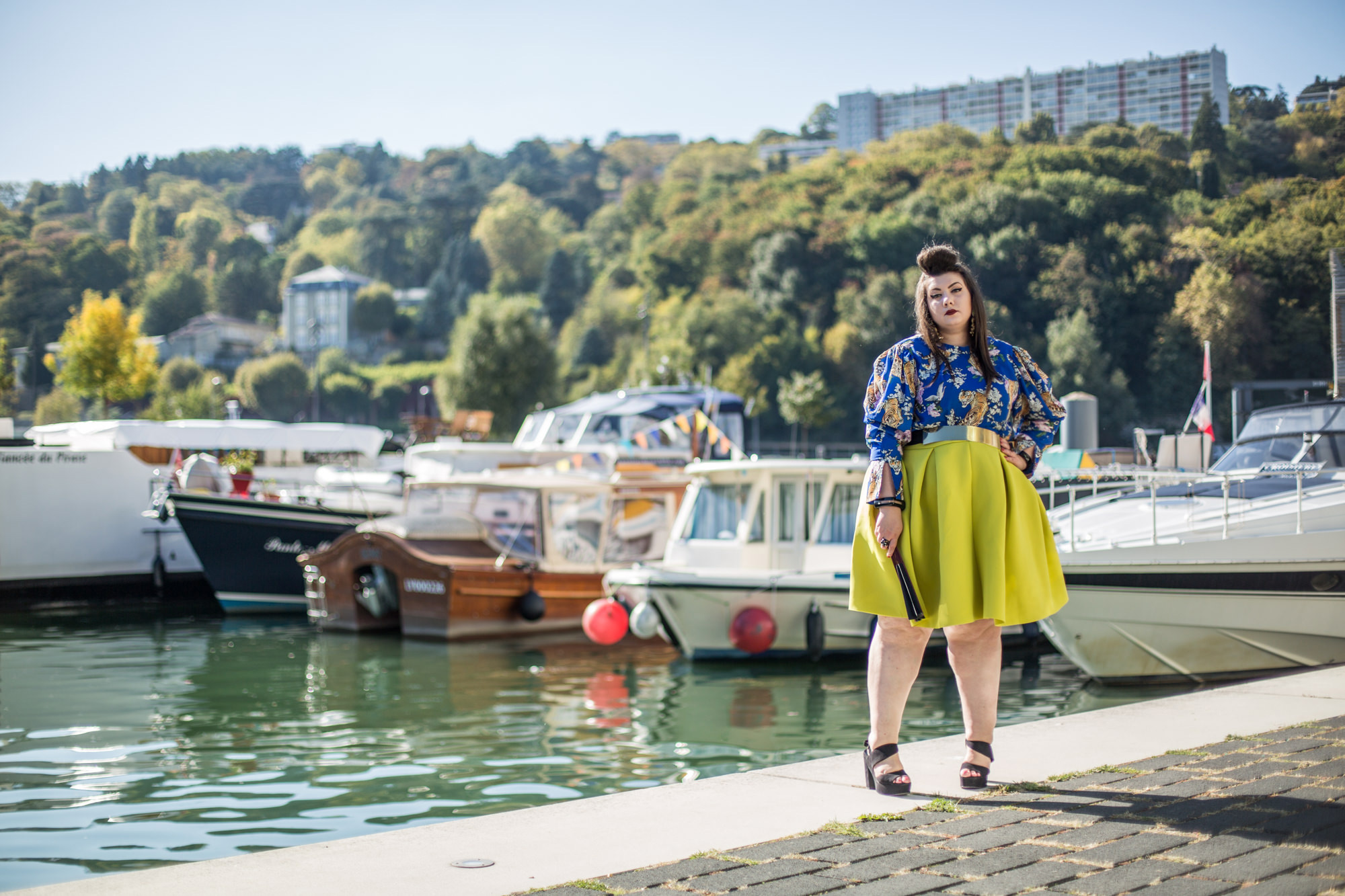 asos curve ashley stewart tiger yellow plus size bbw curvy blogger