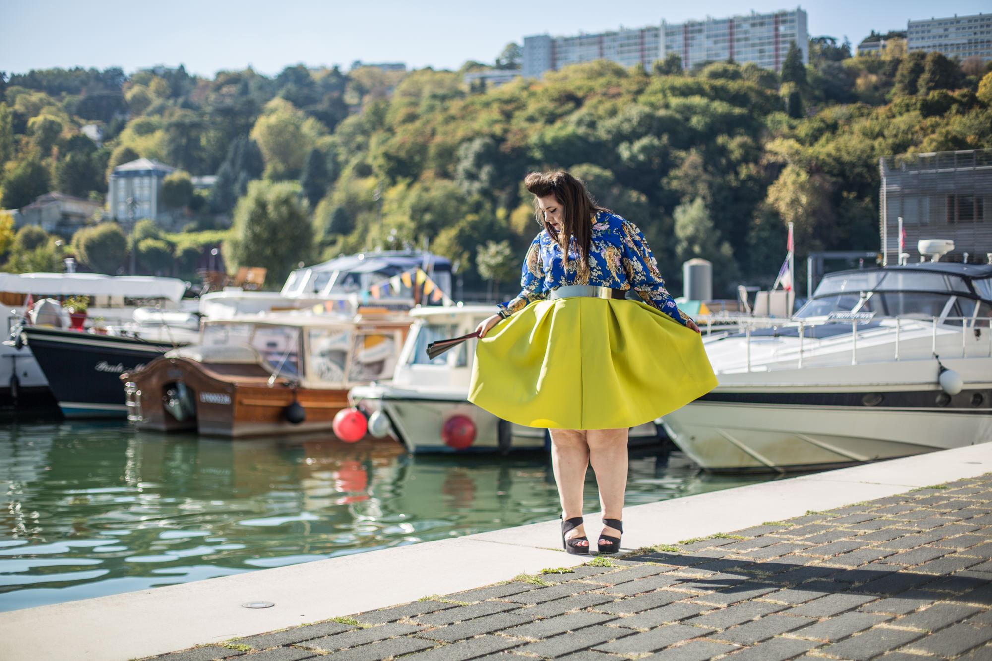 asos curve ashley stewart tiger yellow plus size bbw curvy blogger