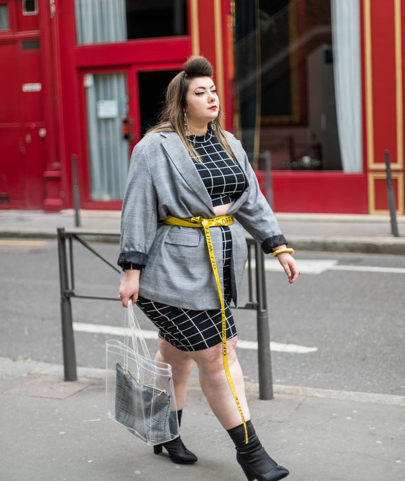 shein grande taille plus size range big girl curvy girl blog carreaux prince de galles