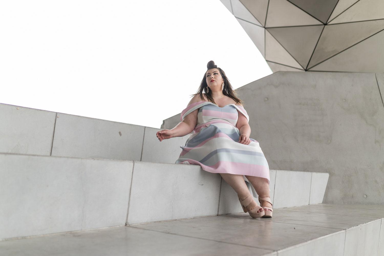 asos curve wedding dress plus size grande taille curvy blogger