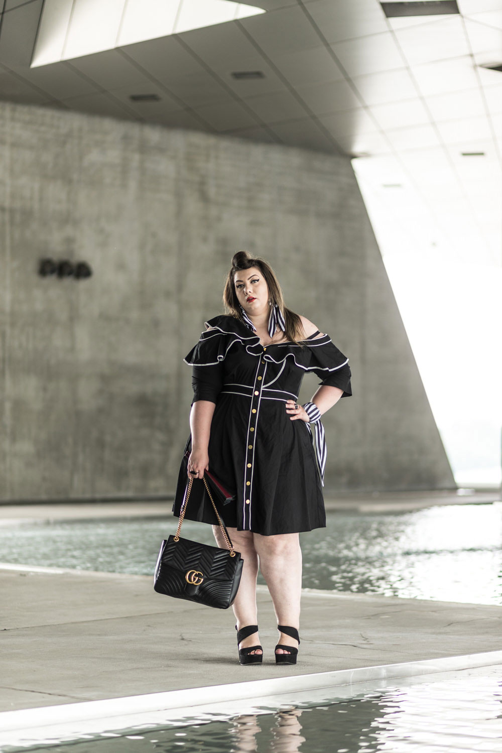 eloquii ruffle dress plus size grande taille curvy girl bodypositive blog