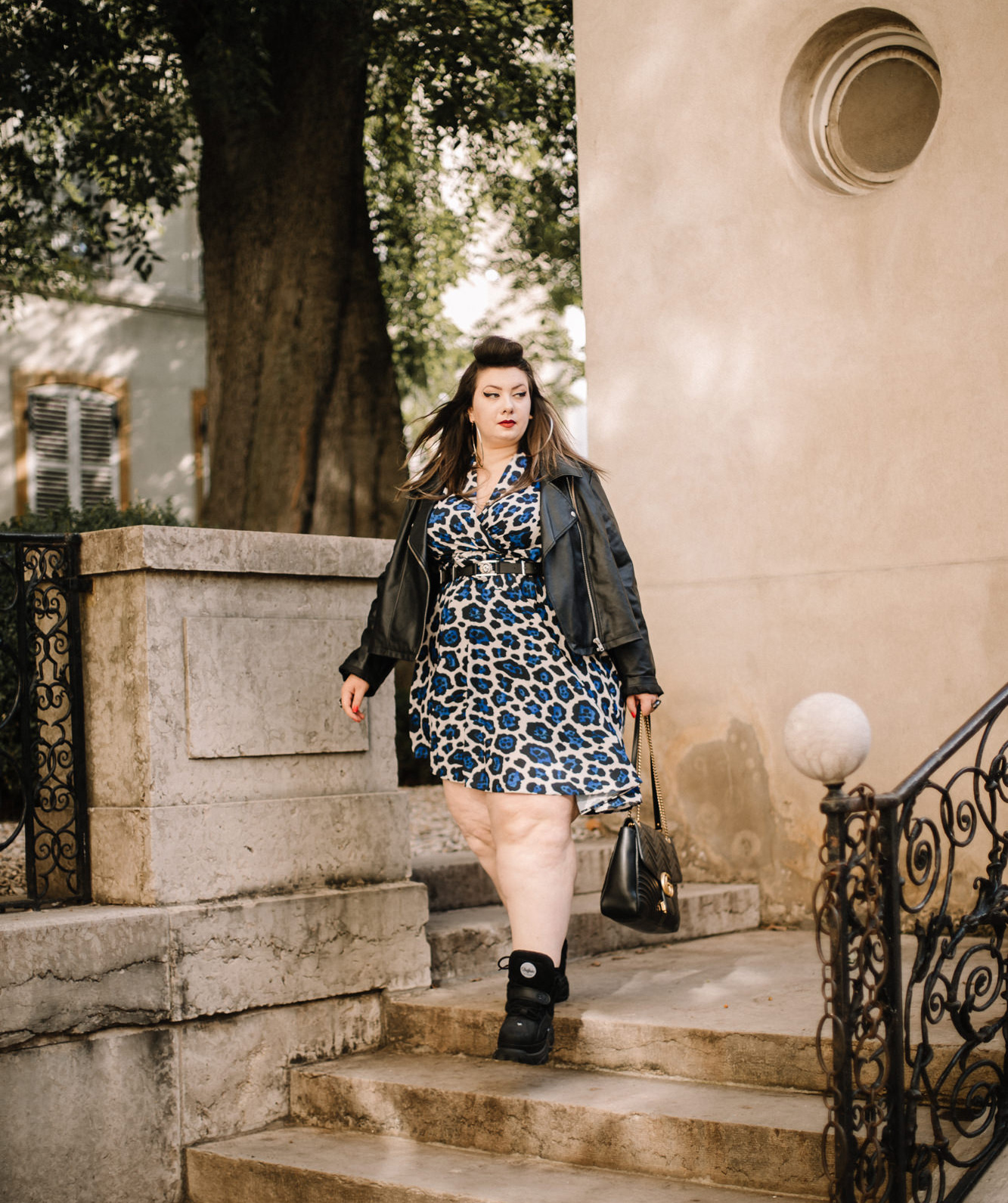 plus size blogger asos curve curvy girl blogger fashion lyon ronde grosse mode grande taille leopard