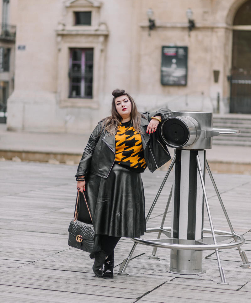 asos curve curvy girl plus size blogger mode grande taille leather skirt lyon virginie grossat