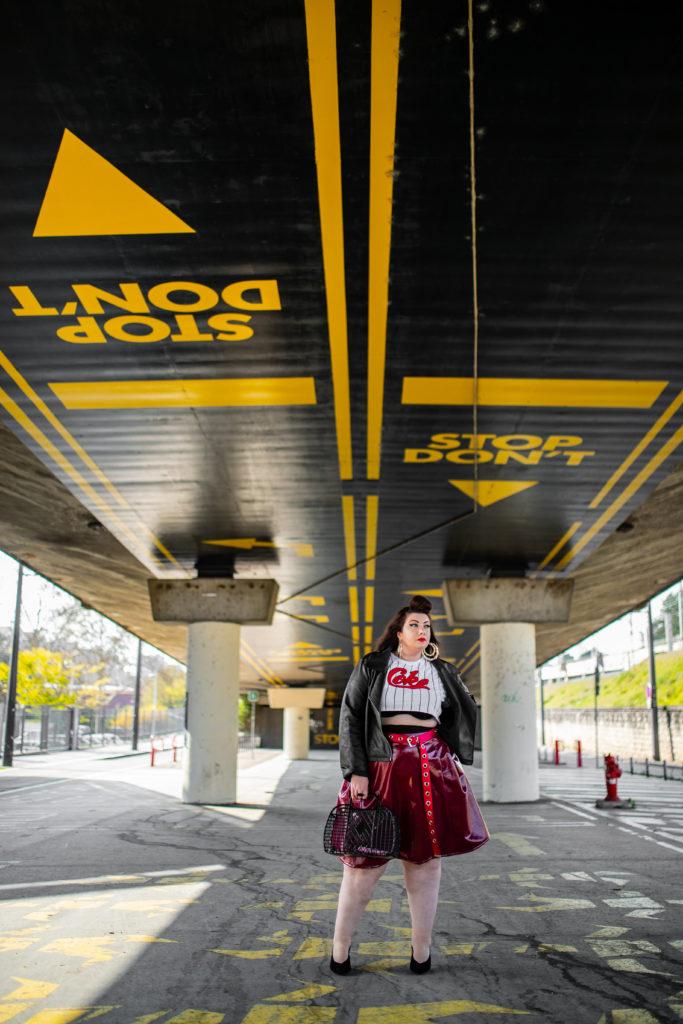 coke crop tee vynile skirt navabi grande taille plus size retro pin up curvy girl