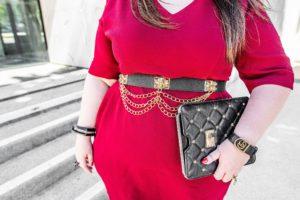blogueuse ronde robe sur mesure