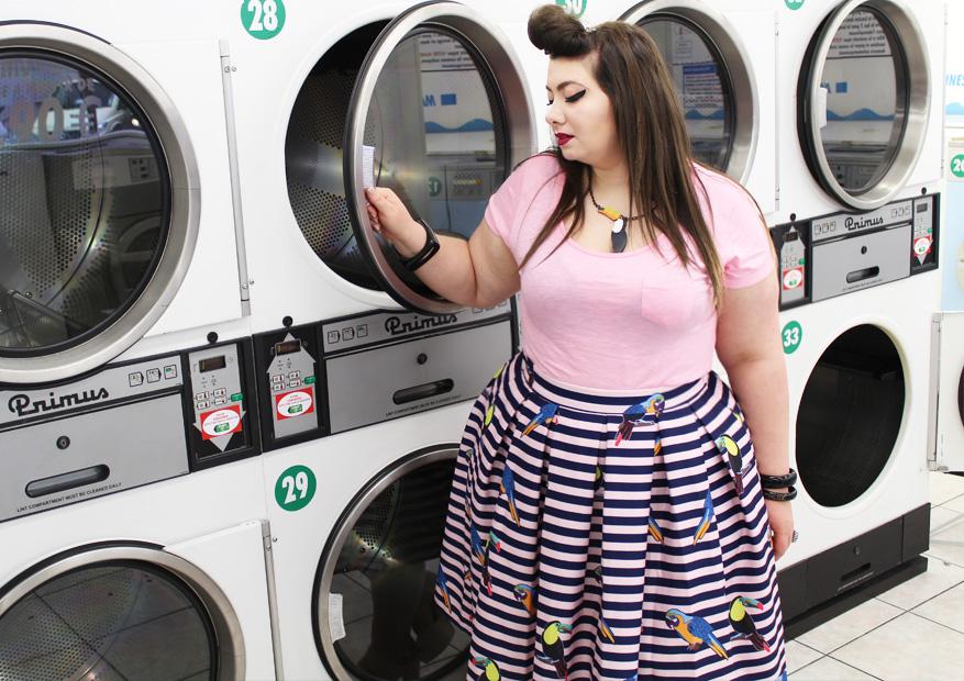jupe laverie paris marinière grande taille plus size ronde