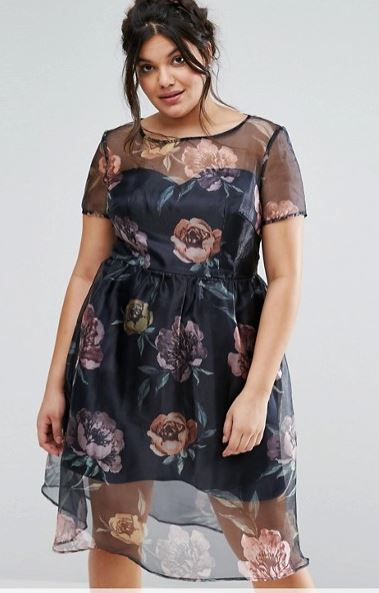 chichi london curves flowers organza