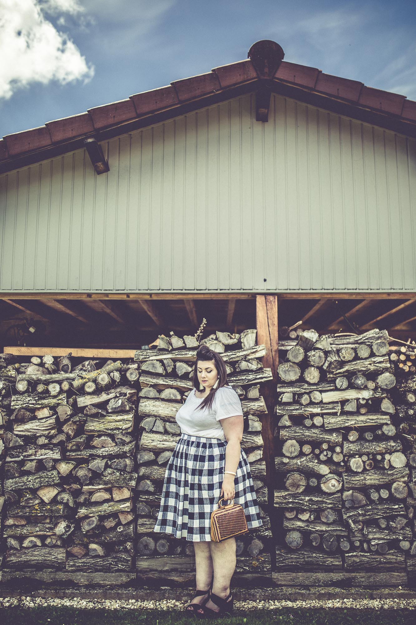 virginie grossat grande taille plus size ranch eloquii skirt blog