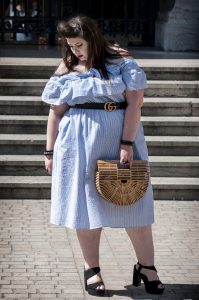 plus size dress eloquii bardot blogueuse grande taille