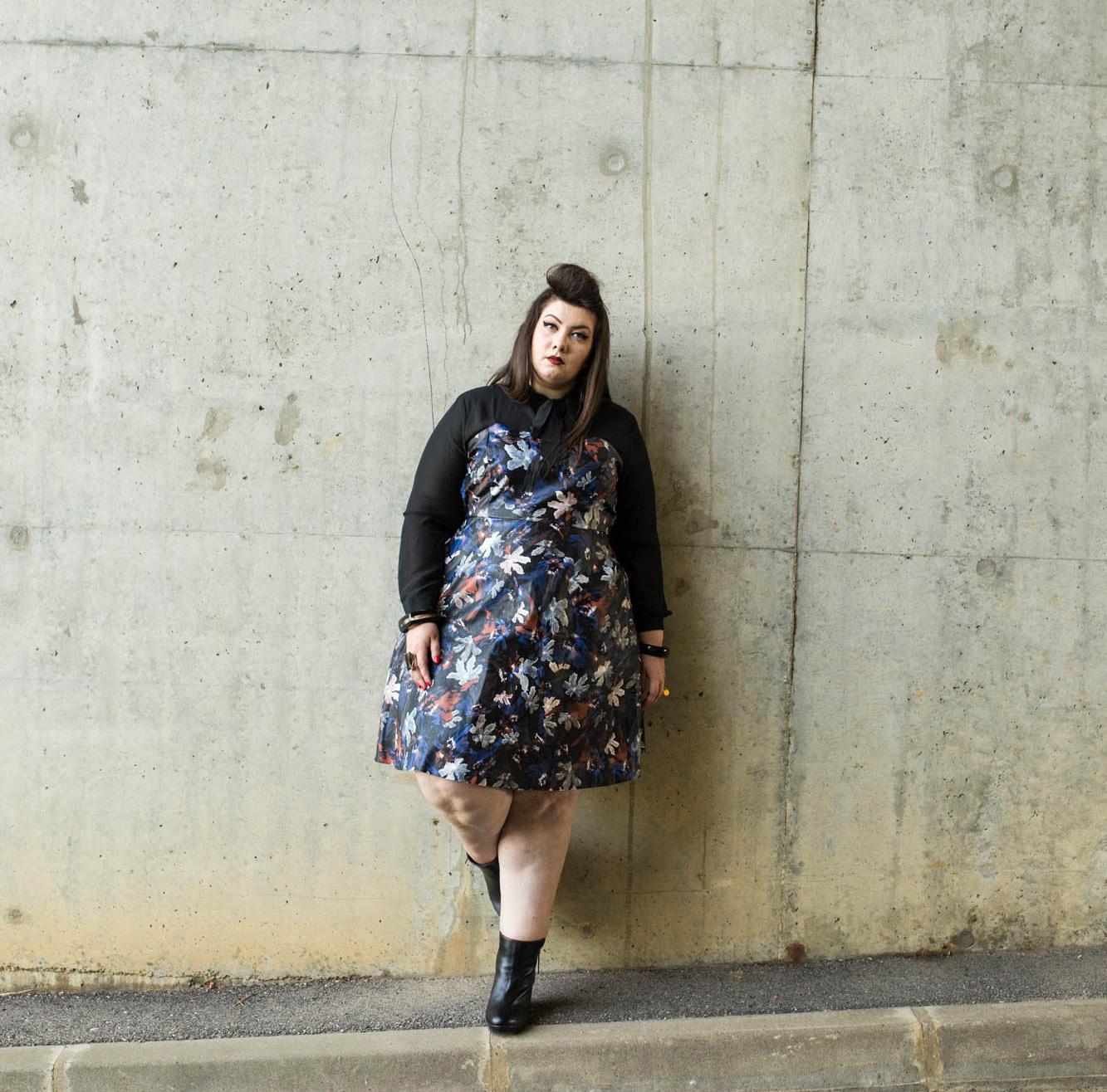 blue dress eloquii curvy plus size rond blog fat chubby big