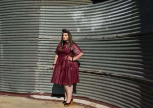 leather dress eloquii plus size grande taille ronde blog curvy grande taille