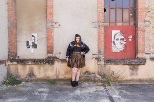leopard wild embroid plus size curvy bbw blogger body positive asos