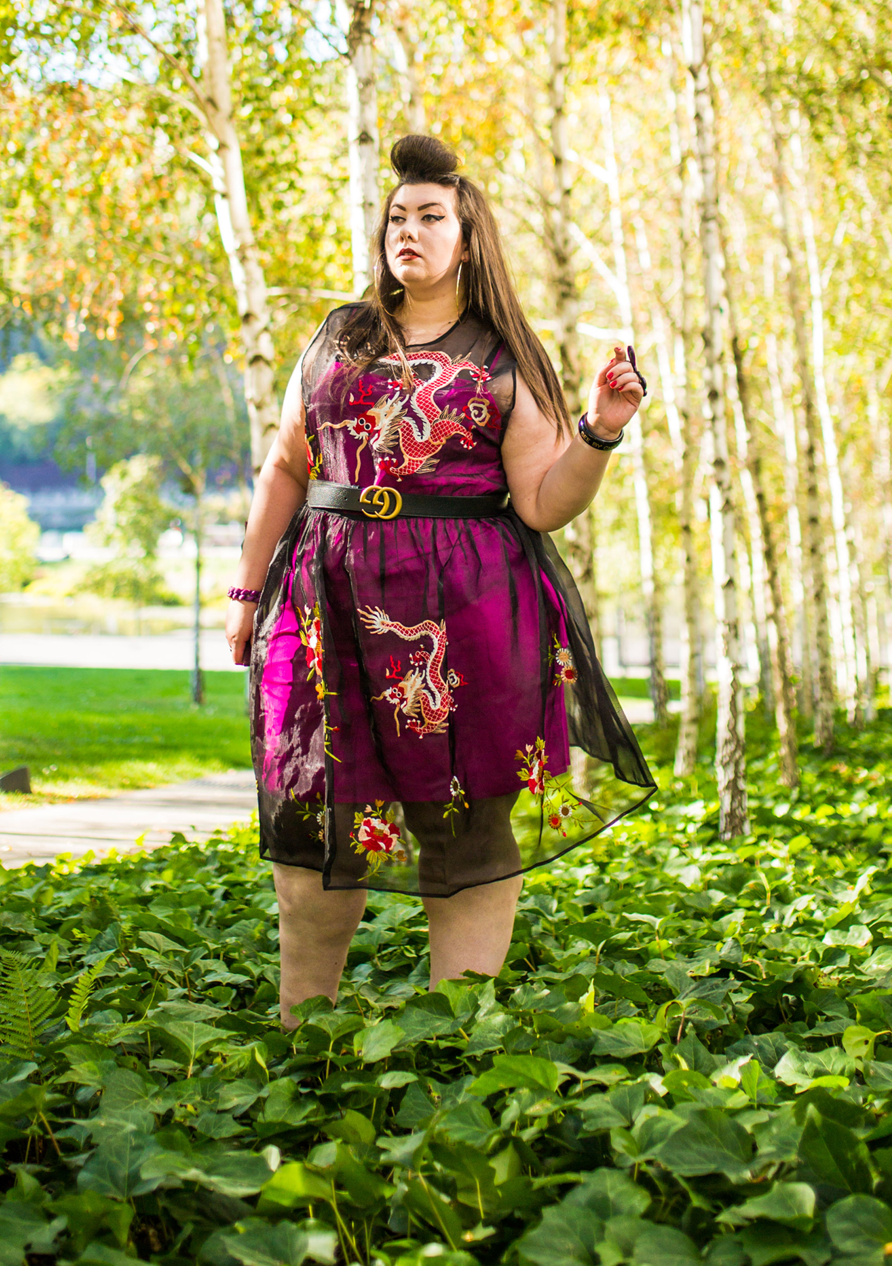 plus size grande taille broderies dragon gucci asos curve blogger curvy girl