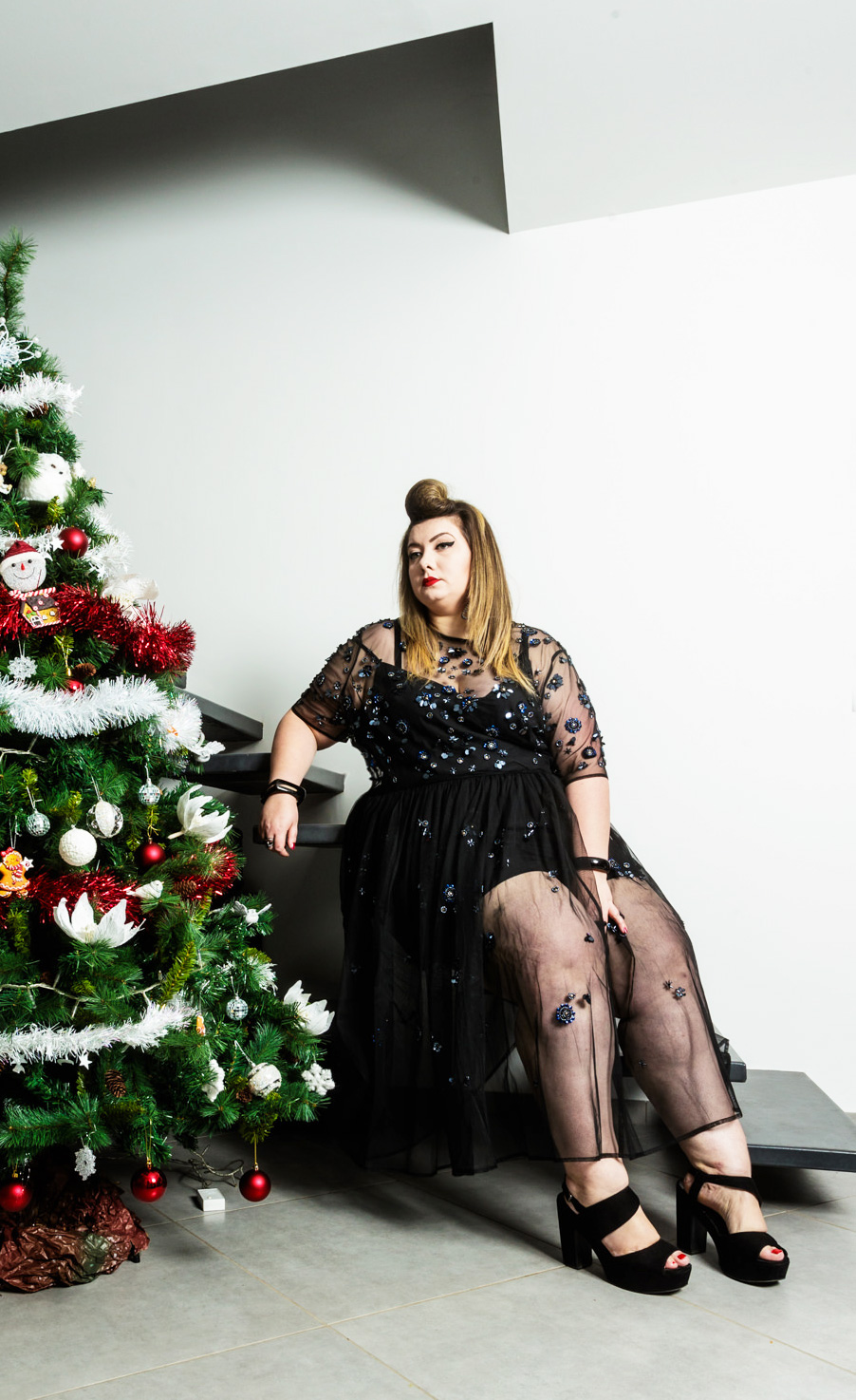 asos curve christmas outfit plus size curvy girl blogger grande taille bbw
