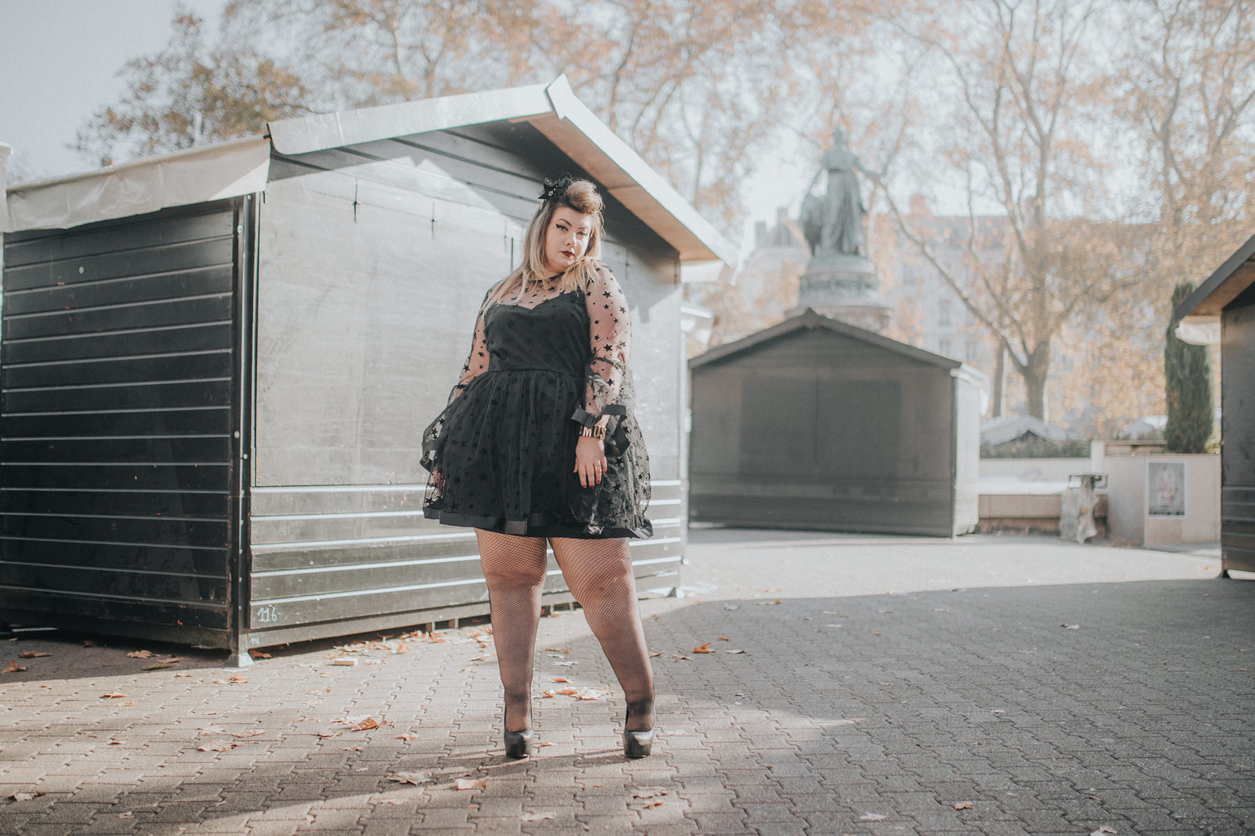 christmas outfit plus size asos curve stars curvy girl blogger night