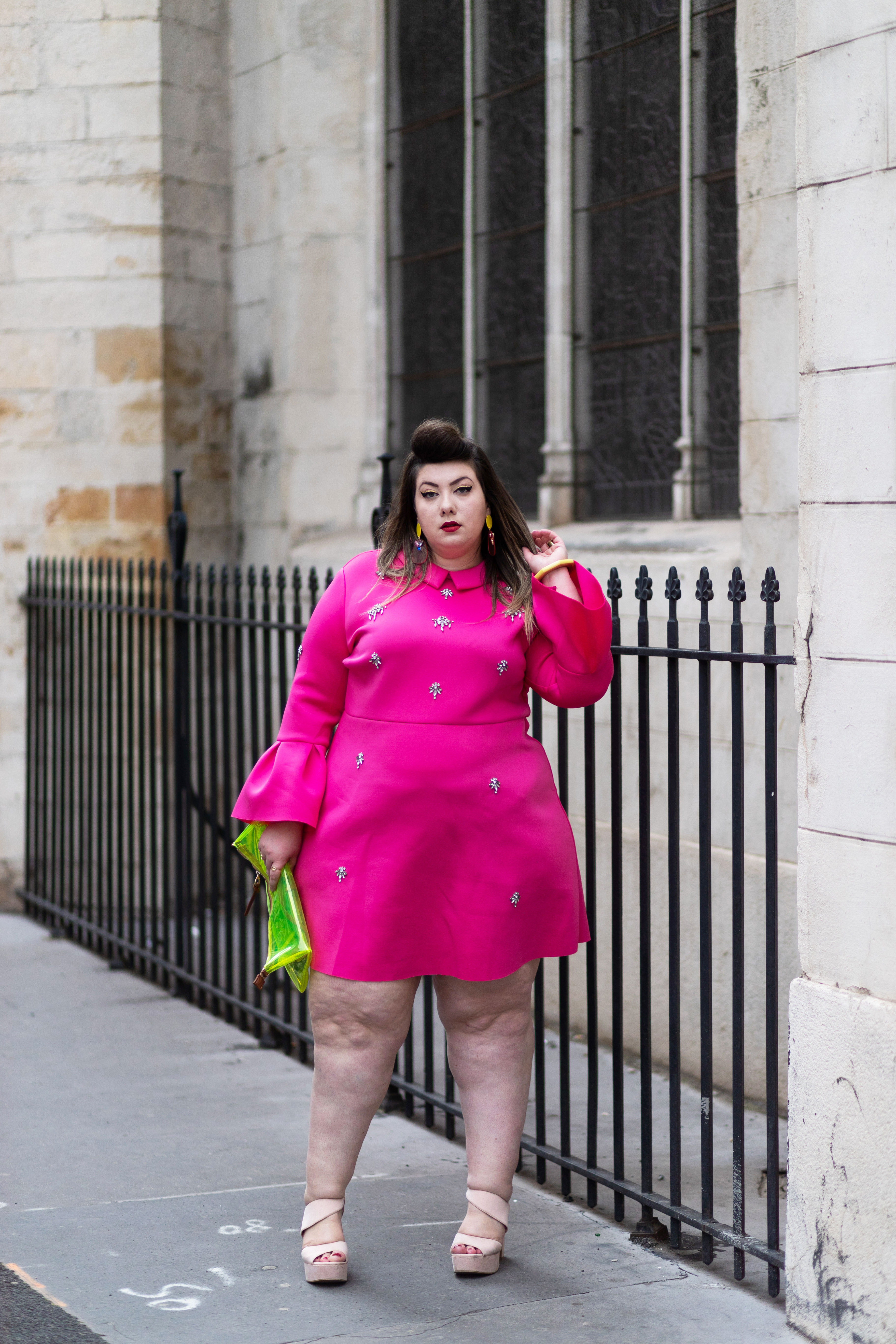 asos curve neoprene dress plus size blogger curvy girl ronde body positive mode grande taille