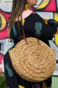 eloquii grande taille plus size dress fruits curvy girl fashion blogger