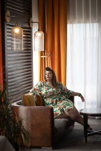 eloquii fruits dress plus size grande taille curvy girl blogger ronde bodypositive