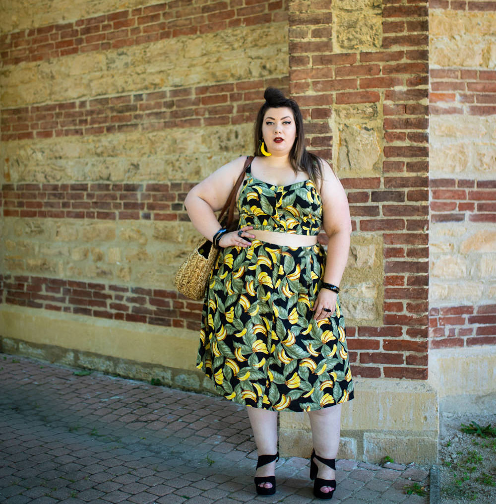 plus size banana retro vintage grande taille forever 21 curvy girl mode grande taille blog ronde bbw