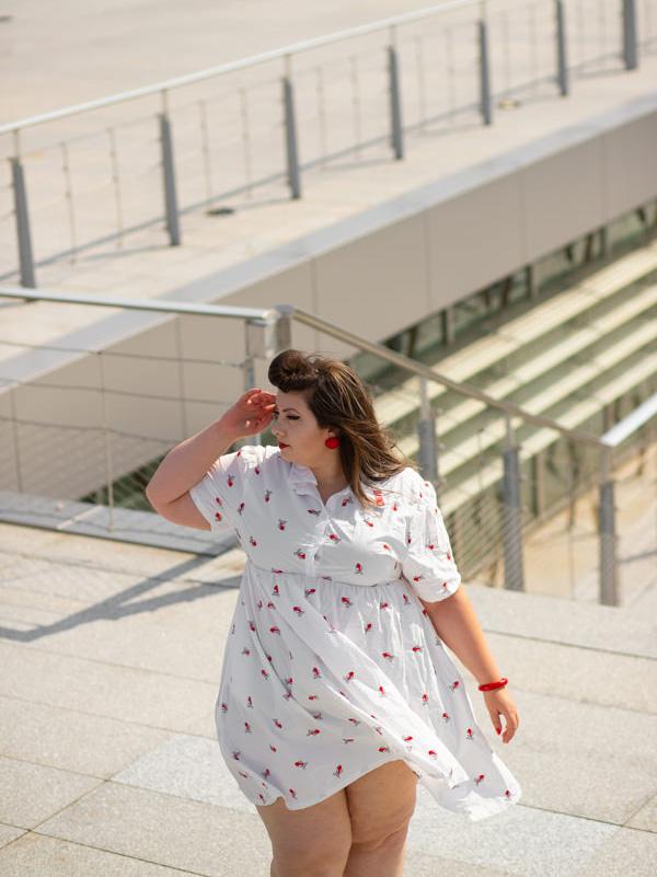 punyus plus size kingyo fish dress grande taille tokyo curvy girl blog ronde grosse