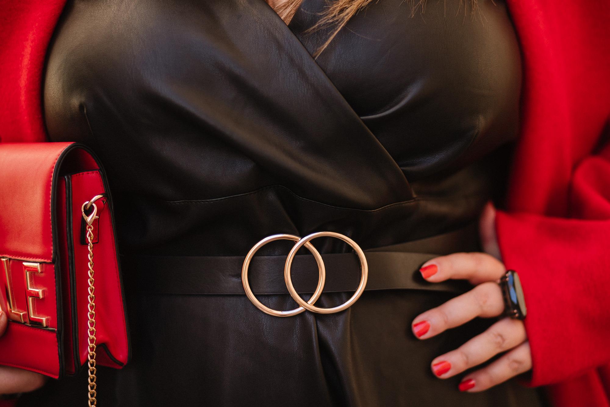 castaluna redoute grande taille plus size blogger mode grosse fat ronde manteau cuir