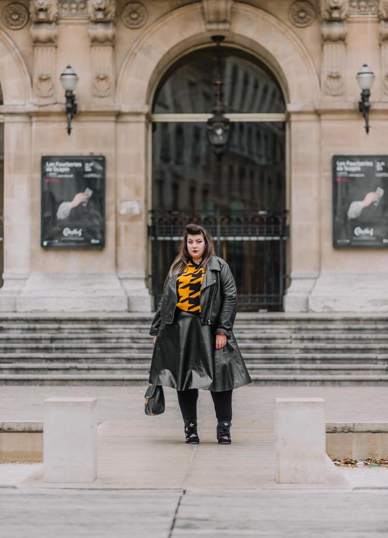 asos curve curvy girl plus size blogger mode grande taille leather skirt lyon virginie grossat