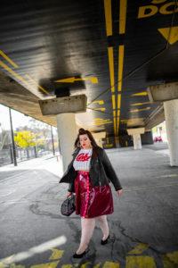 coke crop tee vinyle skirt navabi grande taille plus size retro pin up curvy girl