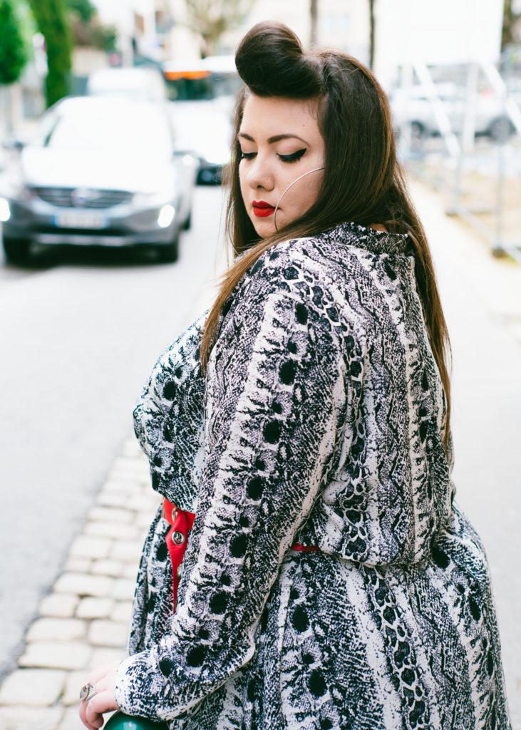 lyon ca bouge reportage portrait lyon virginie grossat blog mode grande taille plus size yoursclothing snake dress