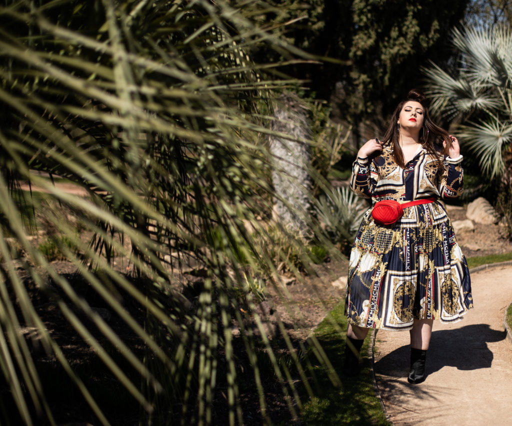 river island plus baroque print foulard mode grande taille plus size curvy girl silk lyon parc tête d'or